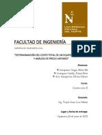 INFORME y Modelo de Cargador Frontal
