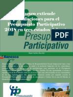 Juan Carlos Escotet - Banesco Extiende Postulaciones Para El Presupuesto Participativo 2018 en Tres Estados Del País