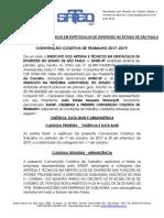 CONVENÇÃO COLETIVA DE TRABALHO SATED X SIAESP 2017-2019 05_04_2018