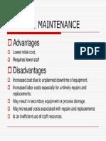 Best Maintenance Repair Practices