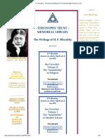 H.P. Blavatsky - Theosophical Writings of H.P. Blavatsky @ Theosophy Trust