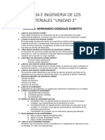 Cuestionario Ingenieria de materiales