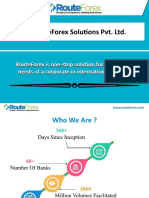 RouteForex SoluƟons Pvt. Ltd.