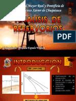 Analisis de Reservorios