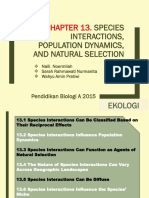 Chapter 13. Species Interactions, Population Dynamics, And Natural Selection FIX