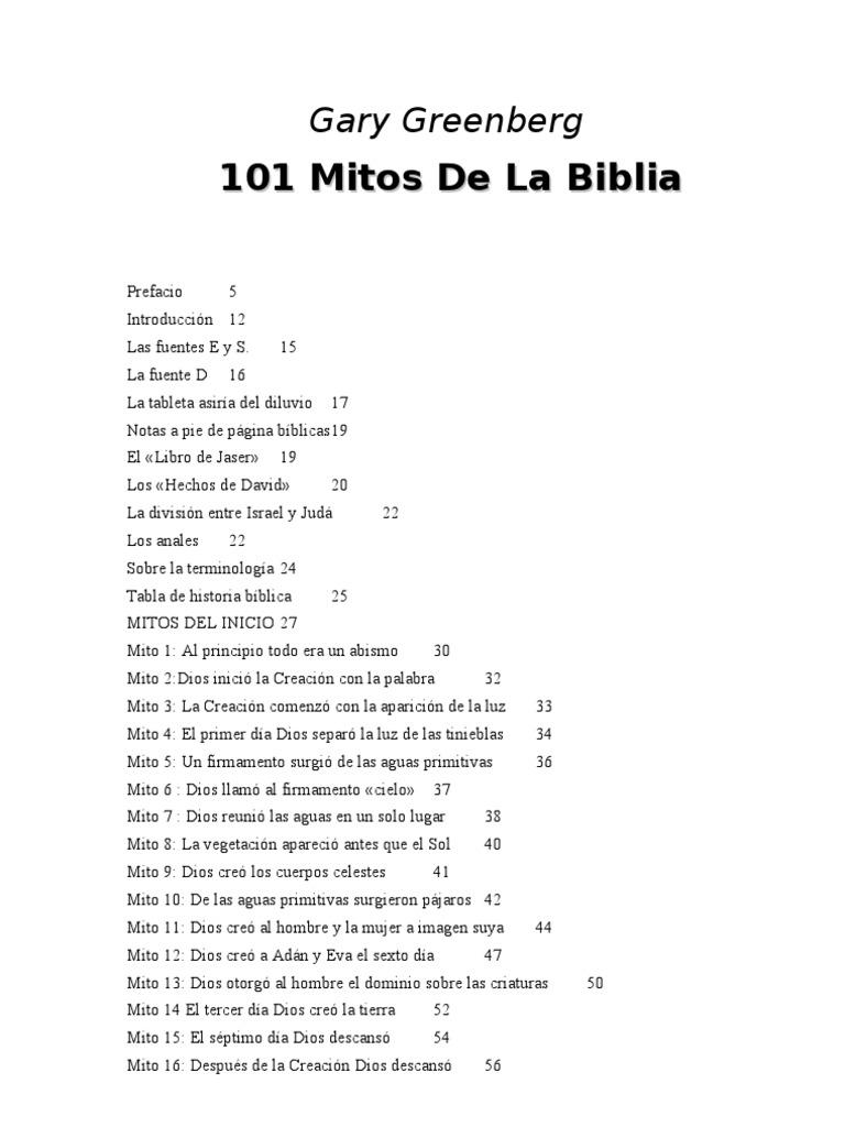 Green Berg, Gary - 101 Mitos de La Biblia