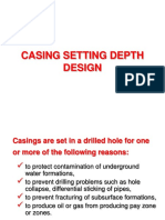 Casing Setting Depth Design