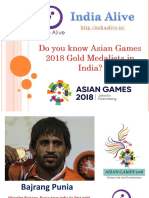 List of Asian games 2018  Gold Medalists in India-India Alive