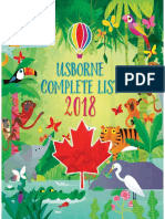 2018 Usborne Books at Home Complete Catalogue CDN