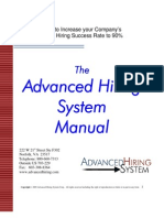 Advanced Sales Hiring System