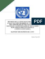 Rapport des experts de l'Onu du 29 juin 2018