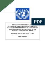 Rapport des experts de l'Onu du 31 août 2018