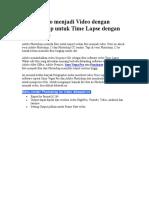 Import Foto Menjadi Video Dengan Photoshop Untuk Time Lapse Dengan Sequence