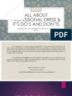 All About Professional Dress & It's Do's And Don'ts