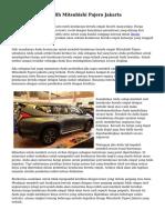 Miliki Harga Terpilih Mitsubishi Pajero Jakarta