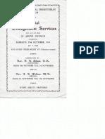 special evangelistic services 29 oct 1944