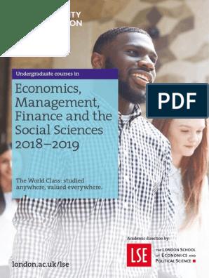 Emfss Prospectus 2018 19   London School Of Economics
