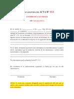 Acta Aclaratoria