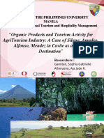 Organic Products and Tourism Activity for AgriTourism Industry