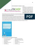 Prestashop ECommerce Website Development Company in Delhi, Noida