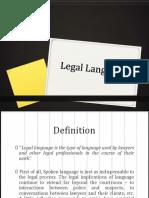 Legal Language ppt