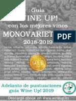 Guía de vinos MONOVARIETALES WINE UP! 2018-2019