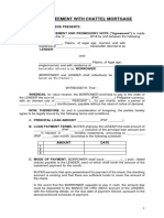 Loan Agreement w Chattel Mortgage