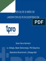 Jornada técnica  Riesgos en laboratorios de Biotecnología   1 de abril de 2009   Criterios de diseño de laboratorios de biocontención  (1).pptx