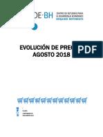 Evolución de Precios - Agosto 2018