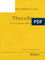 Gottfried Wilhelm Leibniz Theodicee Biblos Yayınları