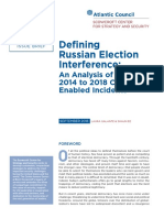 Defining Russian Election Interference