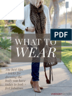 What to Wear - Consejos