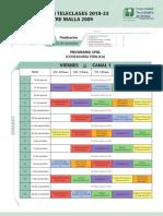 Programacion Cohortes 2018 Viernes Canal 1 VII 2009
