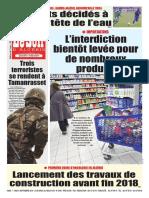 Journal Le Soir d Algerie Du 08.09.2018