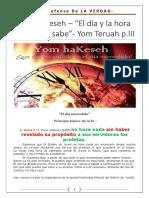 12. Yom HaKeseh - El Día y La Hora Que Nadie Sabe - Yom Teruah Parte III