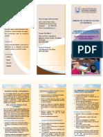 Brochure de La Facultad de Ciencias y Humanidades