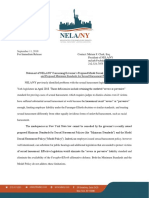 NELANY Press Release Concerning Governor's Proposed Model Sexual Harassment