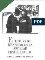 Costa Esping - El Estado Del Bienestar en La Sociedad Postindustrial