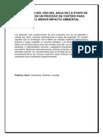 OPTIMIZACIÓN DEL USO DEL AGUA EN LA ETAPA DE PELAMBRE EN UN PROCESO DE CURTIDO PARA TENER EL MENOR IMPACTO AMBIENTAL.pdf