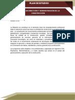 Maestría Dirección y Adm. de La Construcción