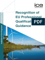 Recognition of Eu Professional Qualifications Guidance ICE