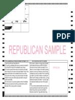 Republican Primary Sample Ballot