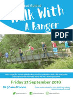 BSL Guided Walk With a Ranger Poster