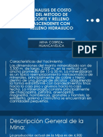 Analisis de Costo Del Metodo de Corte Yrelleno Hidrualico