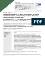 Colangiopancreatograf a Retr Grada Endosc Pica en Un Hosp 2012 Revista de Ga