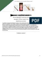Guia de Dedilhado Do Clarinete Com Sugestões de Altissimo Para tocar