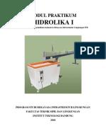 Modul Praktikum Hidrolika I TA 2018-2019