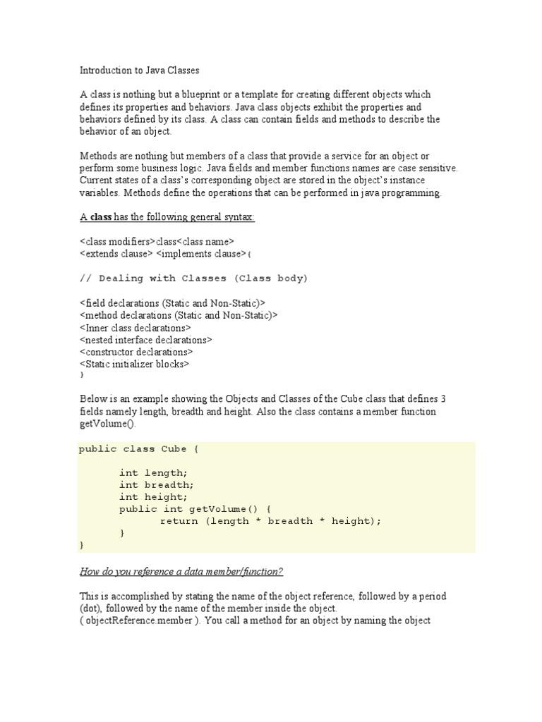 Java Imp Class Computer Programming Method Computer Programming