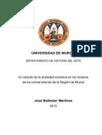 Ballester Martínez - 2015 - Un estudio de la ansiedad escénica en los músicos de los conservatorios de la Región de Murcia