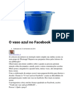 O Vaso Azul No Facebook